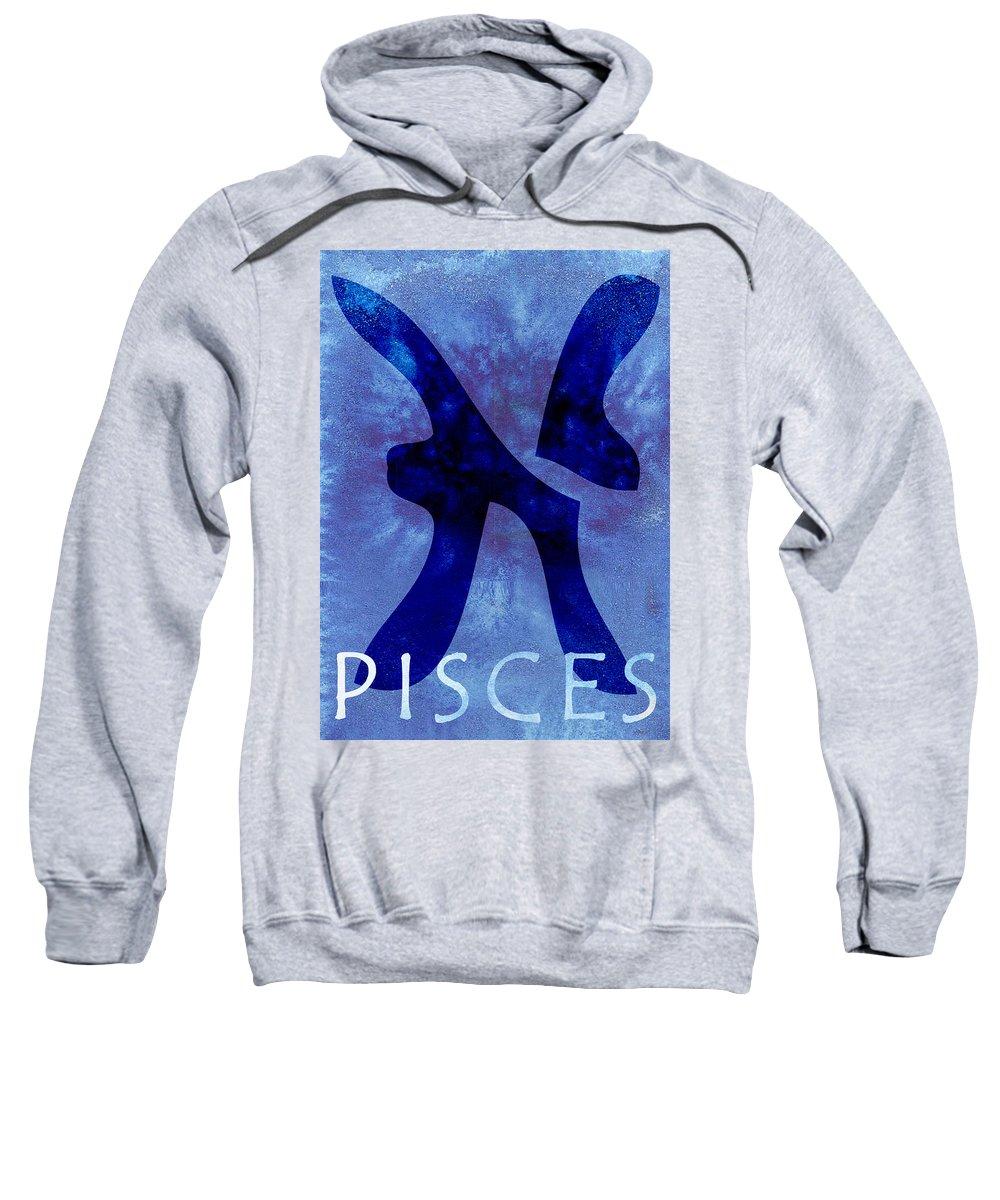 Pisces Sign Sweatshirt featuring the digital art Pisces by Joelle Bhullar