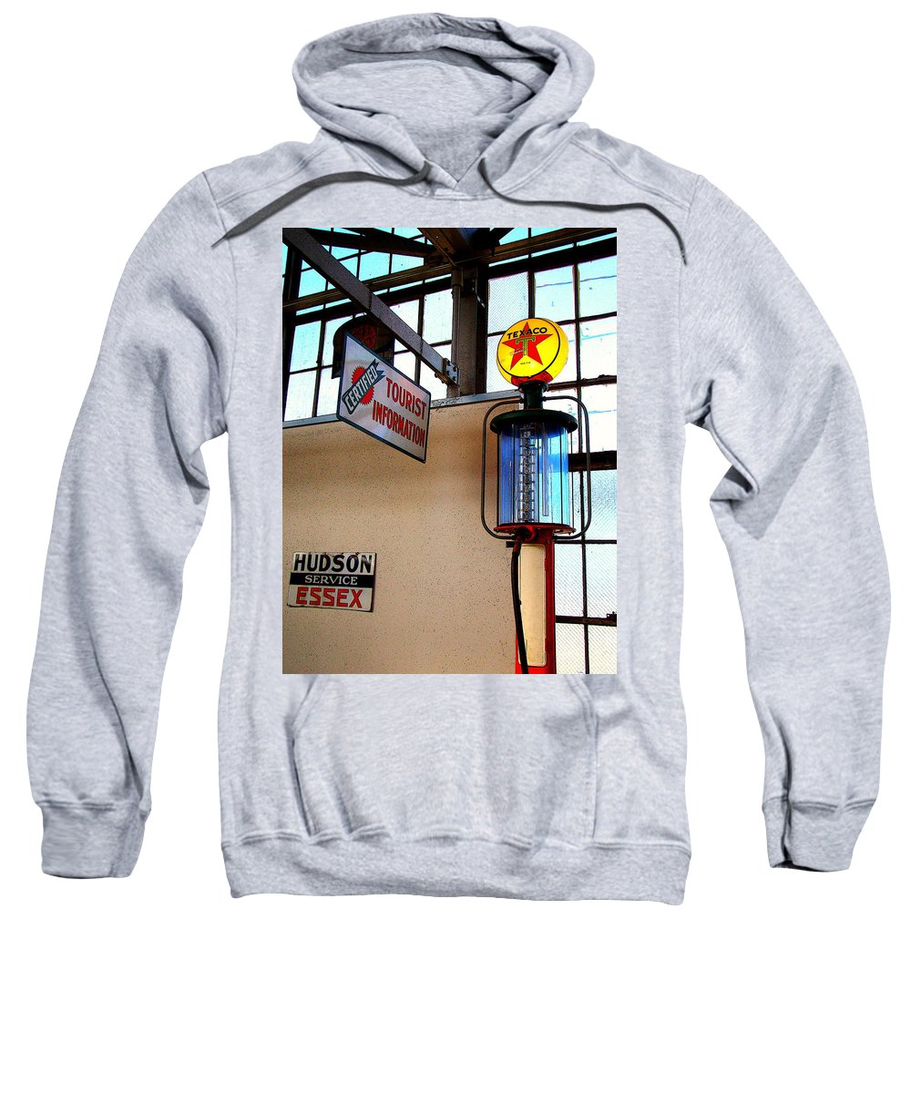 Fine Art Sweatshirt featuring the photograph Pit Stop by Rodney Lee Williams