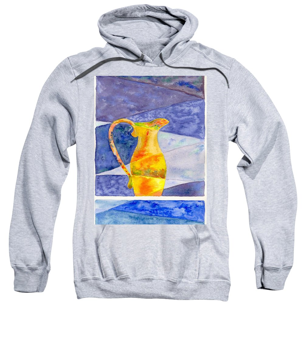 Still Life Sweatshirt featuring the painting Pitcher 1 by Micah Guenther