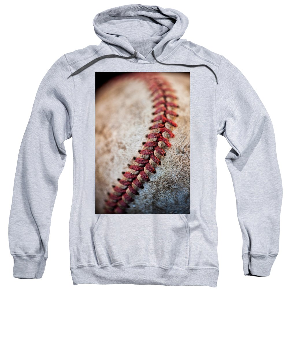 Stitches Sweatshirt featuring the photograph Pitchers Stitches by Karol Livote