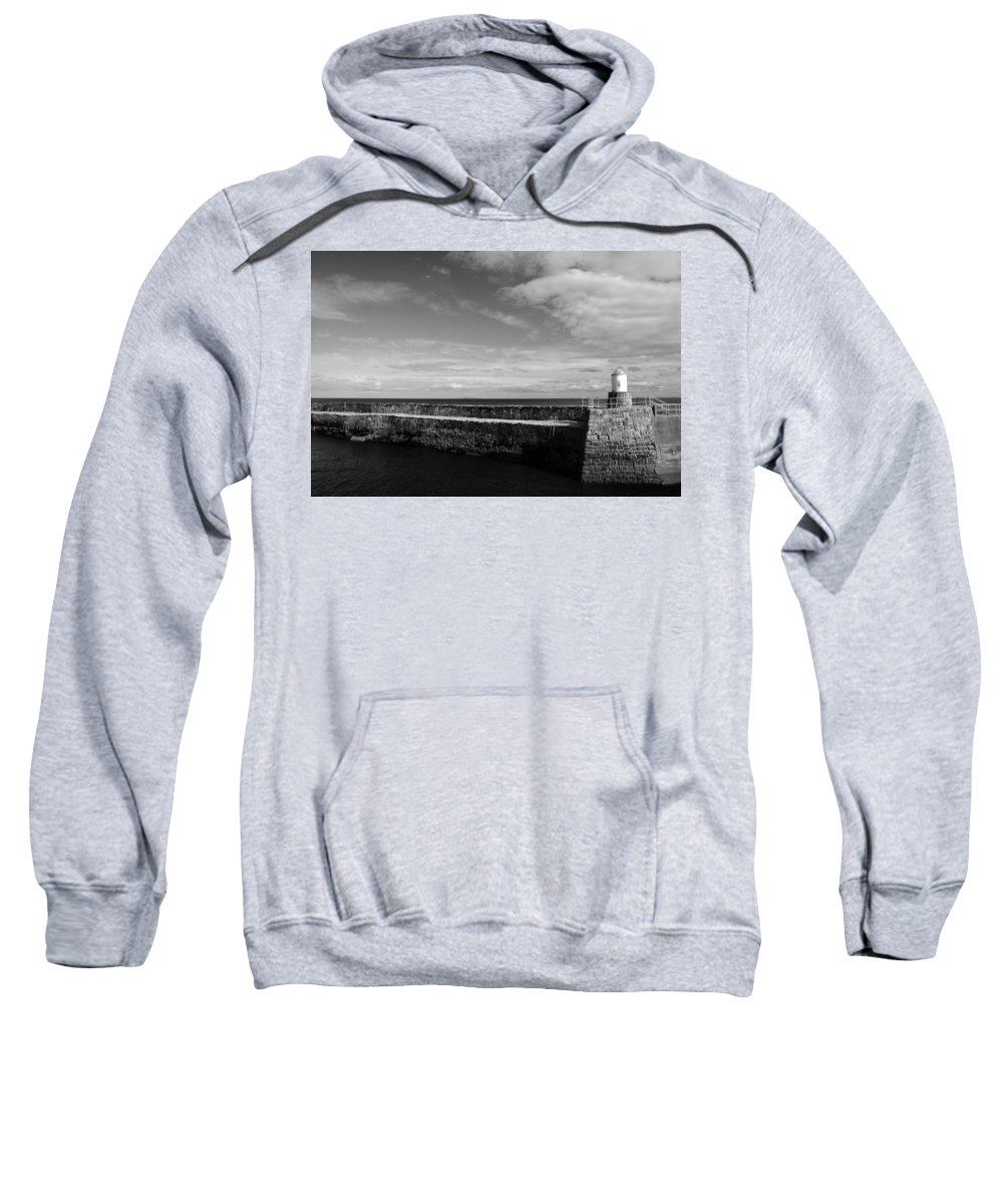 Scotland Sweatshirt featuring the photograph Pitenweem Harbour Wall by Jeremy Voisey