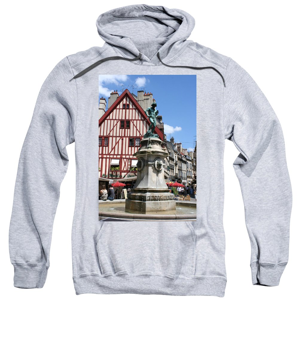 Frame House Sweatshirt featuring the photograph Place Francois Rude - Dijon by Christiane Schulze Art And Photography