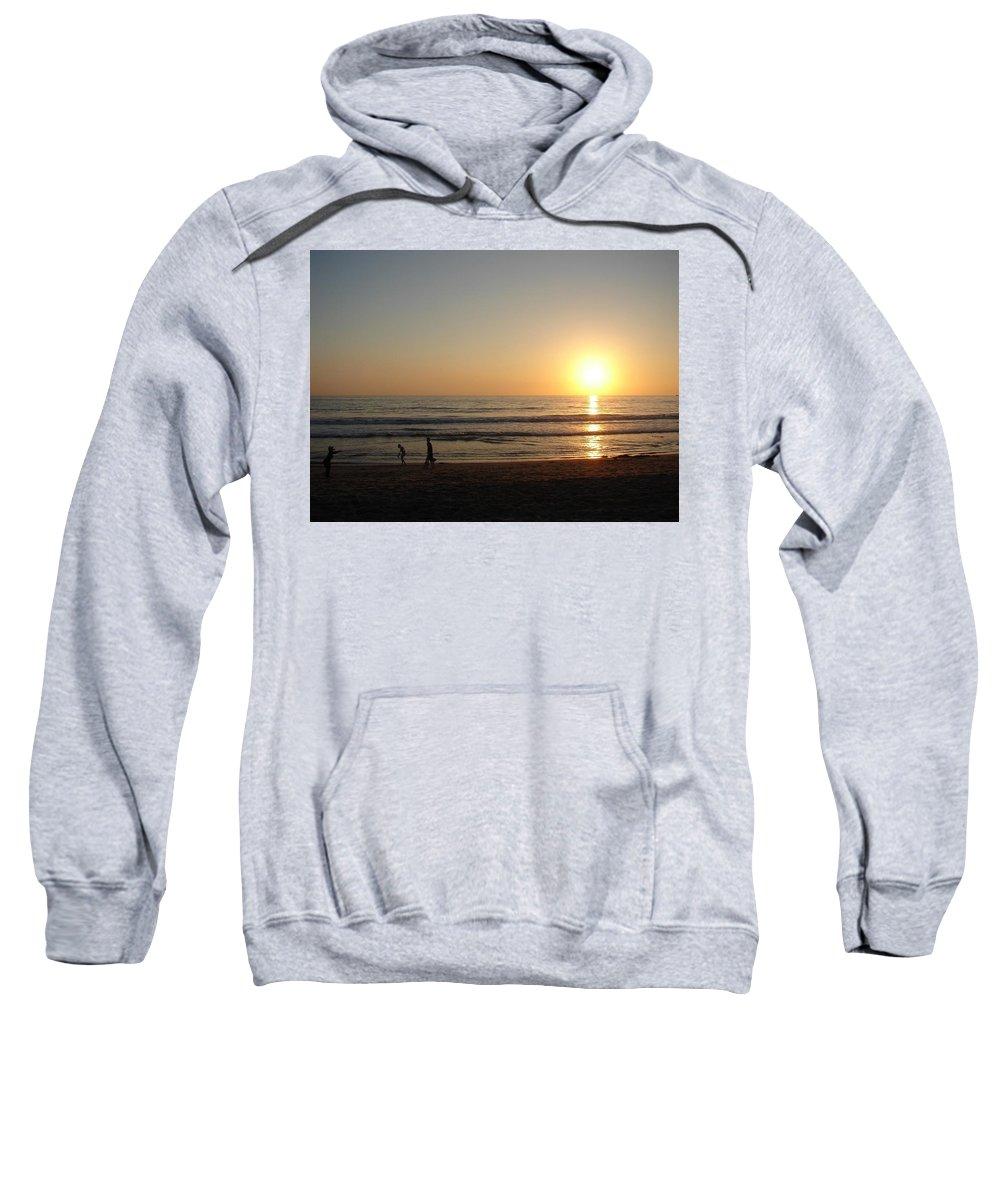 Sunset Sweatshirt featuring the photograph Play On California Beach by Keisha Marshall