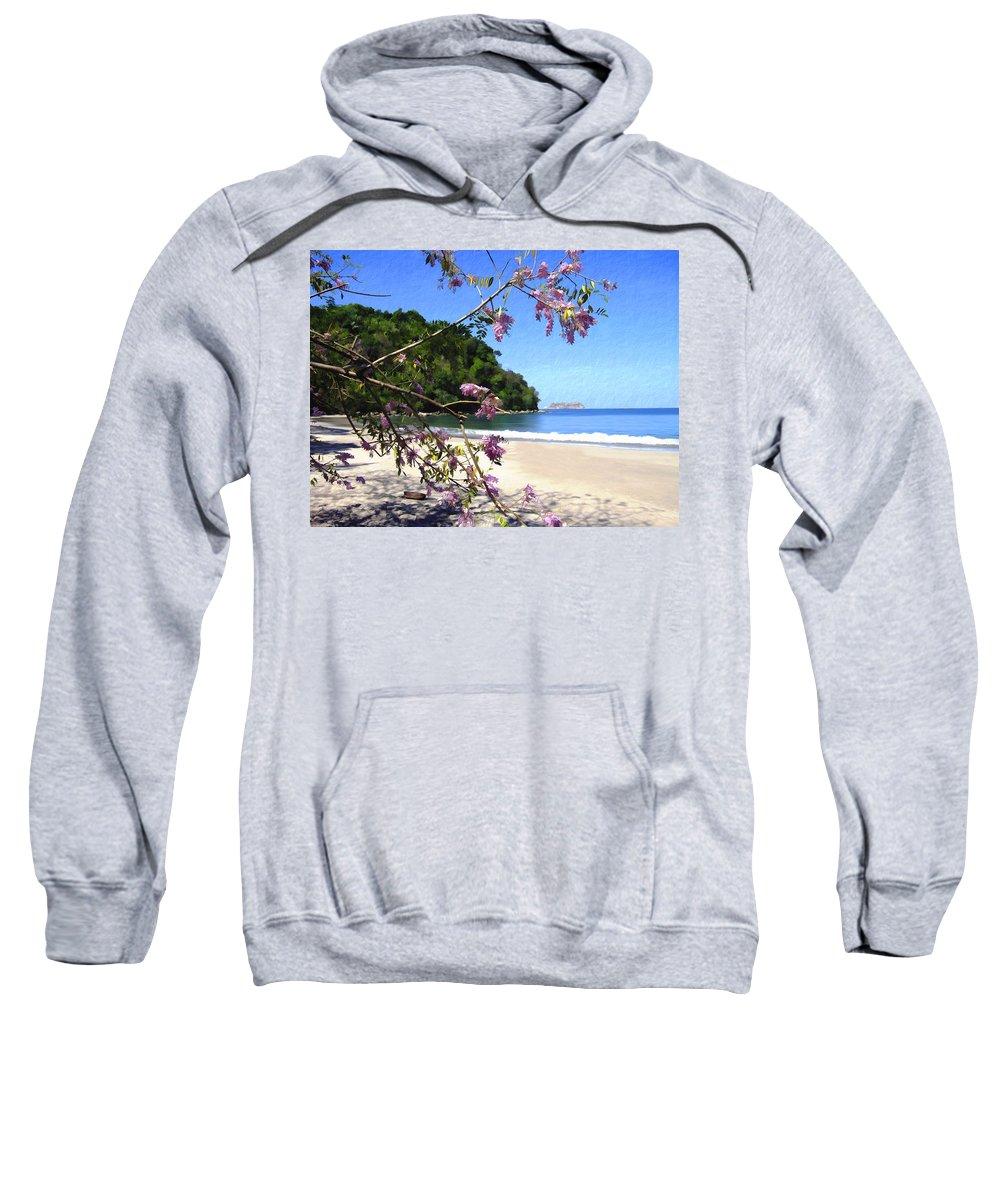 Beach Sweatshirt featuring the photograph Playa Espadillia Sur Manuel Antonio National Park Costa Rica by Kurt Van Wagner