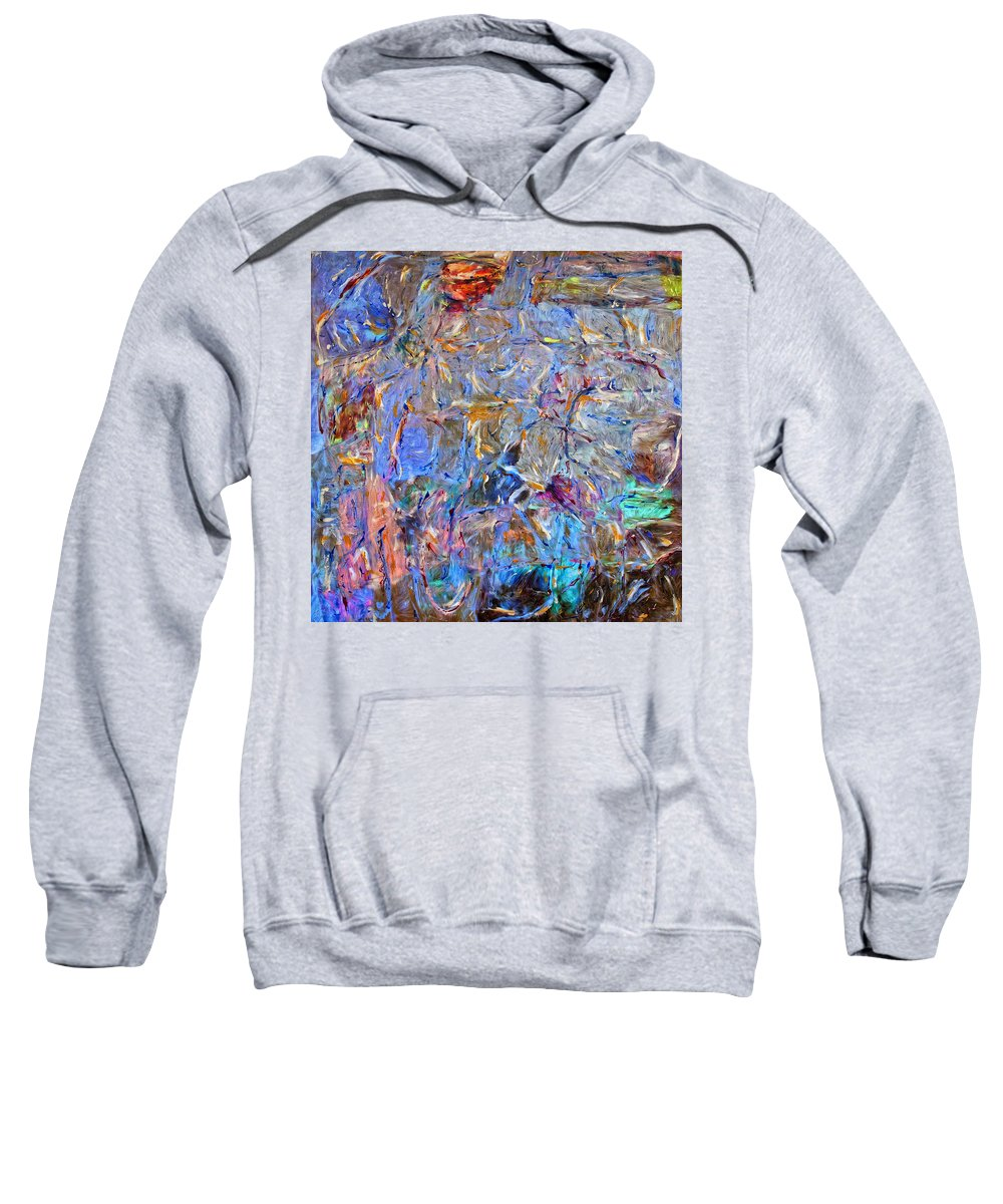 Abstract Sweatshirt featuring the painting Playground by Dominic Piperata