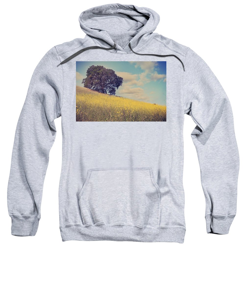 Mt. Diablo State Park Sweatshirt featuring the photograph Please Send Some Hope by Laurie Search