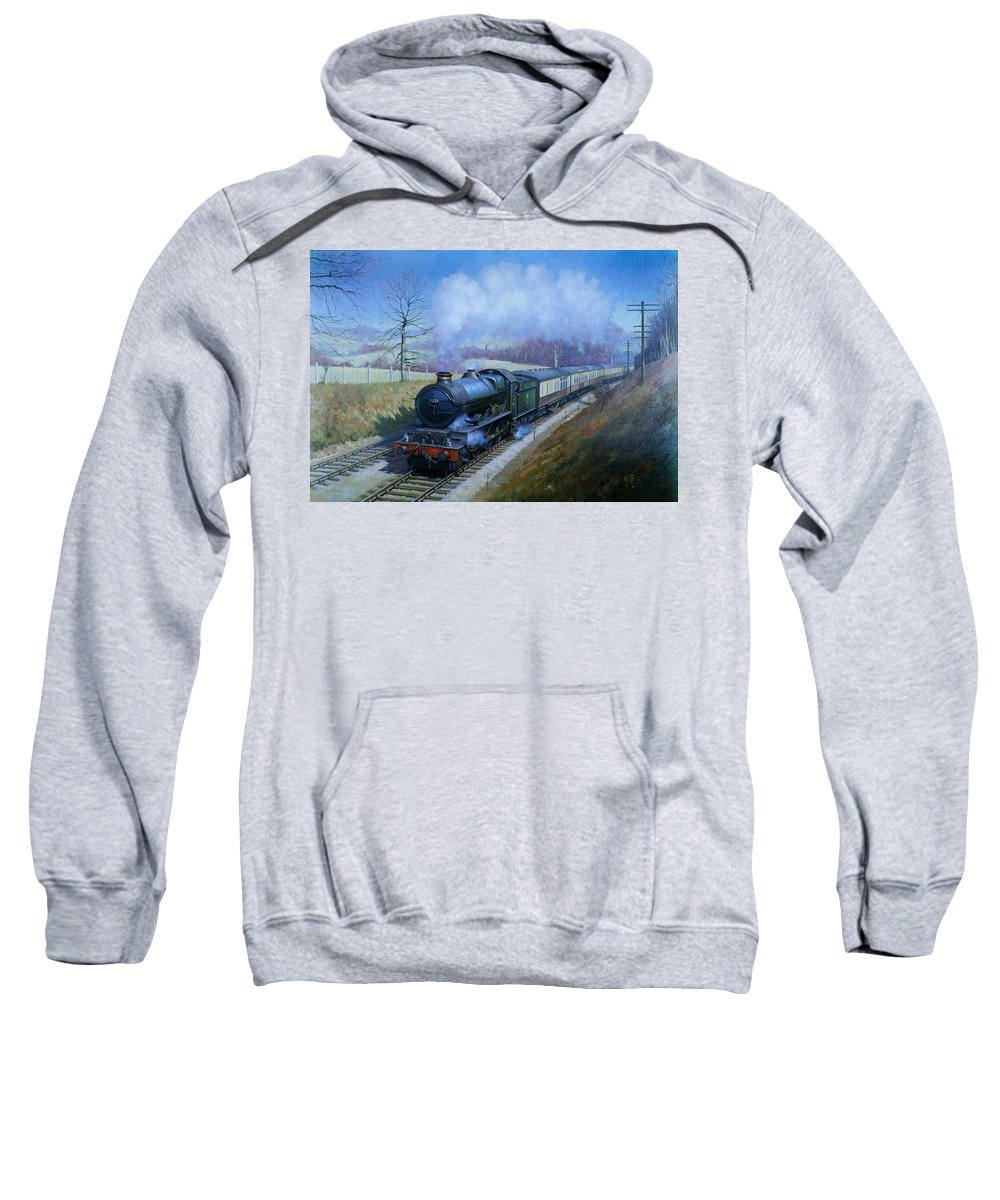 Classic Sweatshirt featuring the painting Plymouth Bound. by Mike Jeffries