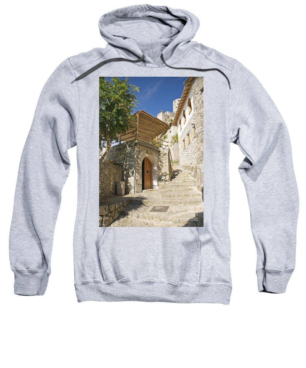 Architecture Sweatshirt featuring the photograph Pocitelj Village In Bosnia by Jacek Malipan