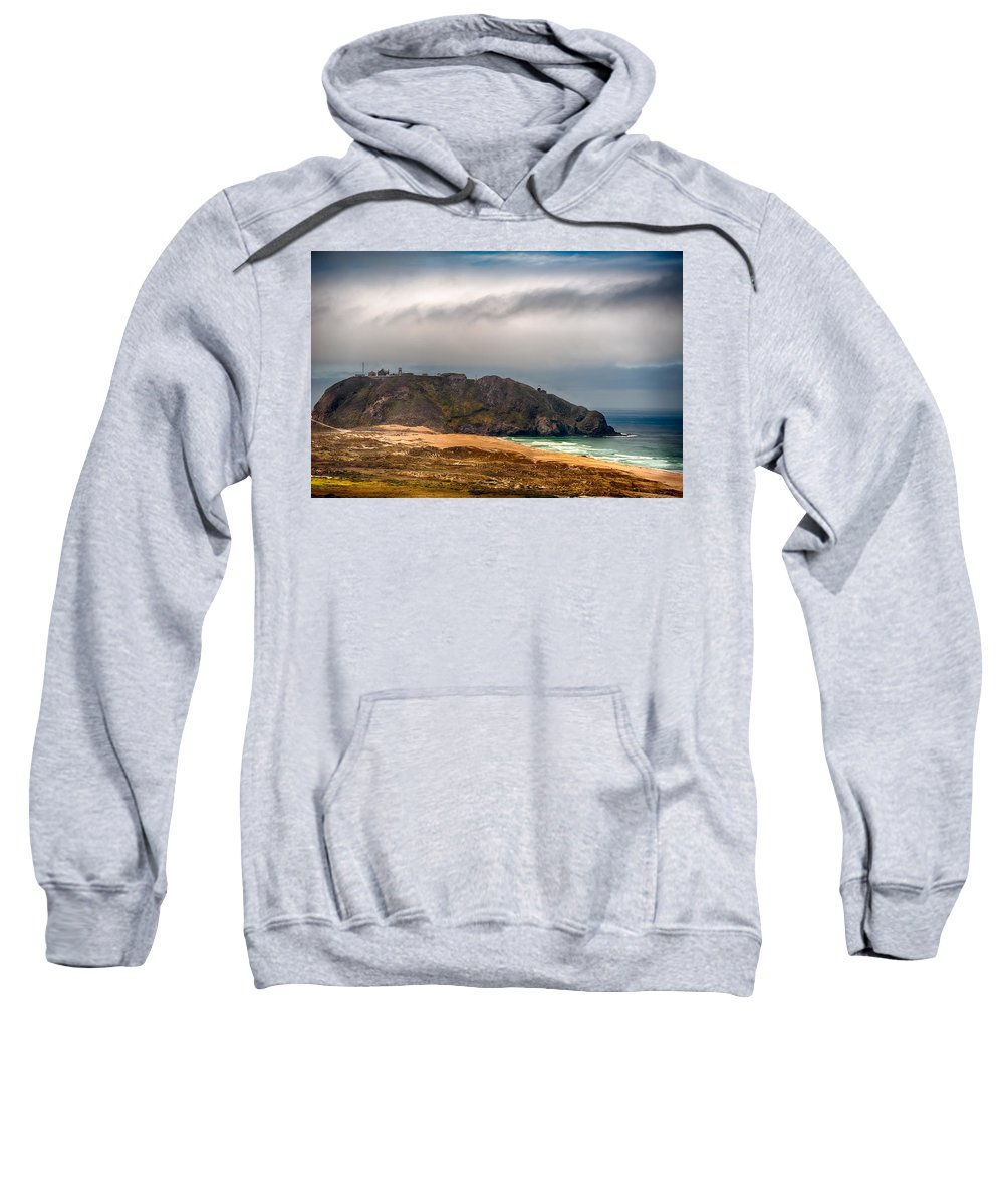 California Sweatshirt featuring the photograph Point Sur Lighthouse by Dan McManus