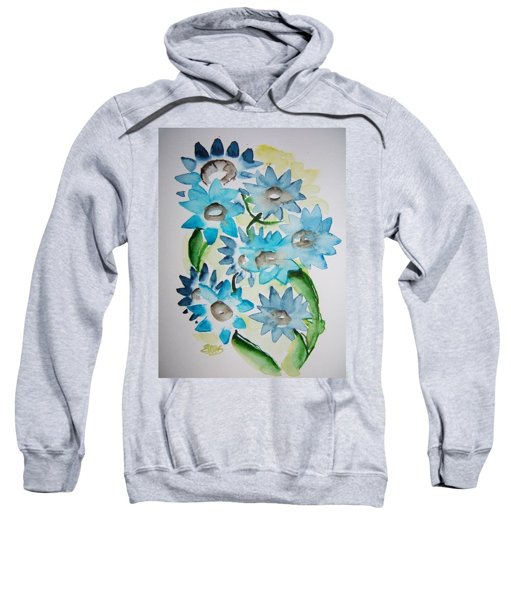 Flower Sweatshirt featuring the painting Pointy Petals by Elaine Duras