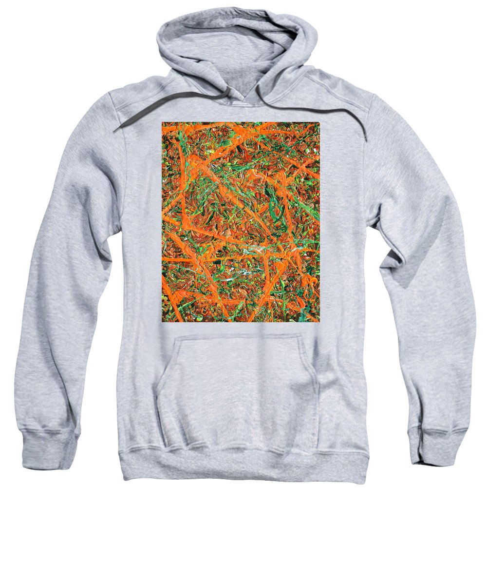 Psychedelic Sweatshirt featuring the painting Pollock's Carrots by Ric Bascobert