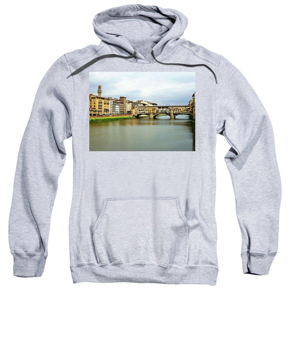Ponte Vecchio Sweatshirt featuring the photograph Ponte Vecchio 1 by Ellen Henneke