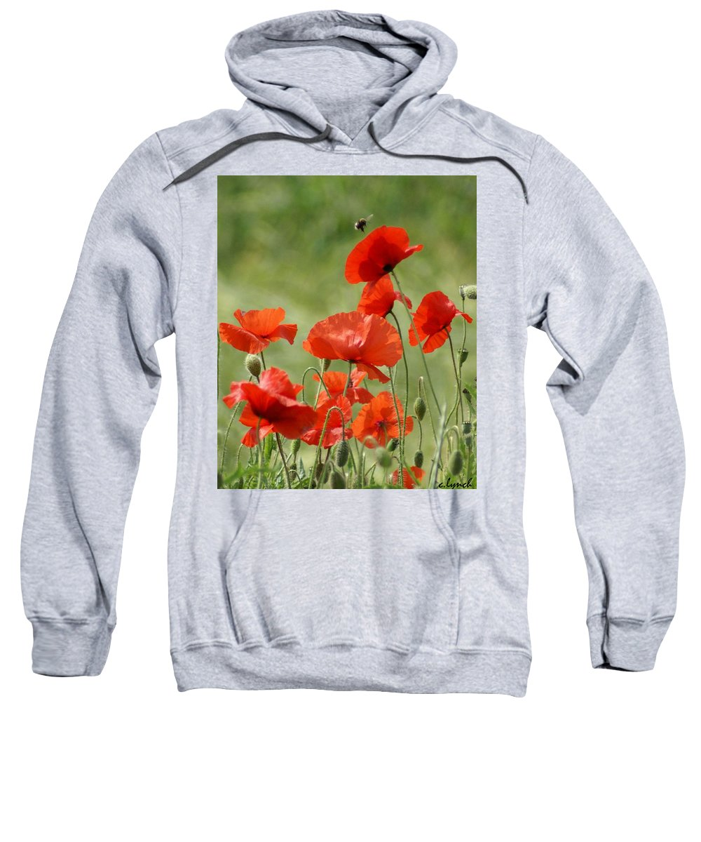 Poppies Sweatshirt featuring the photograph Poppies 1 by Carol Lynch