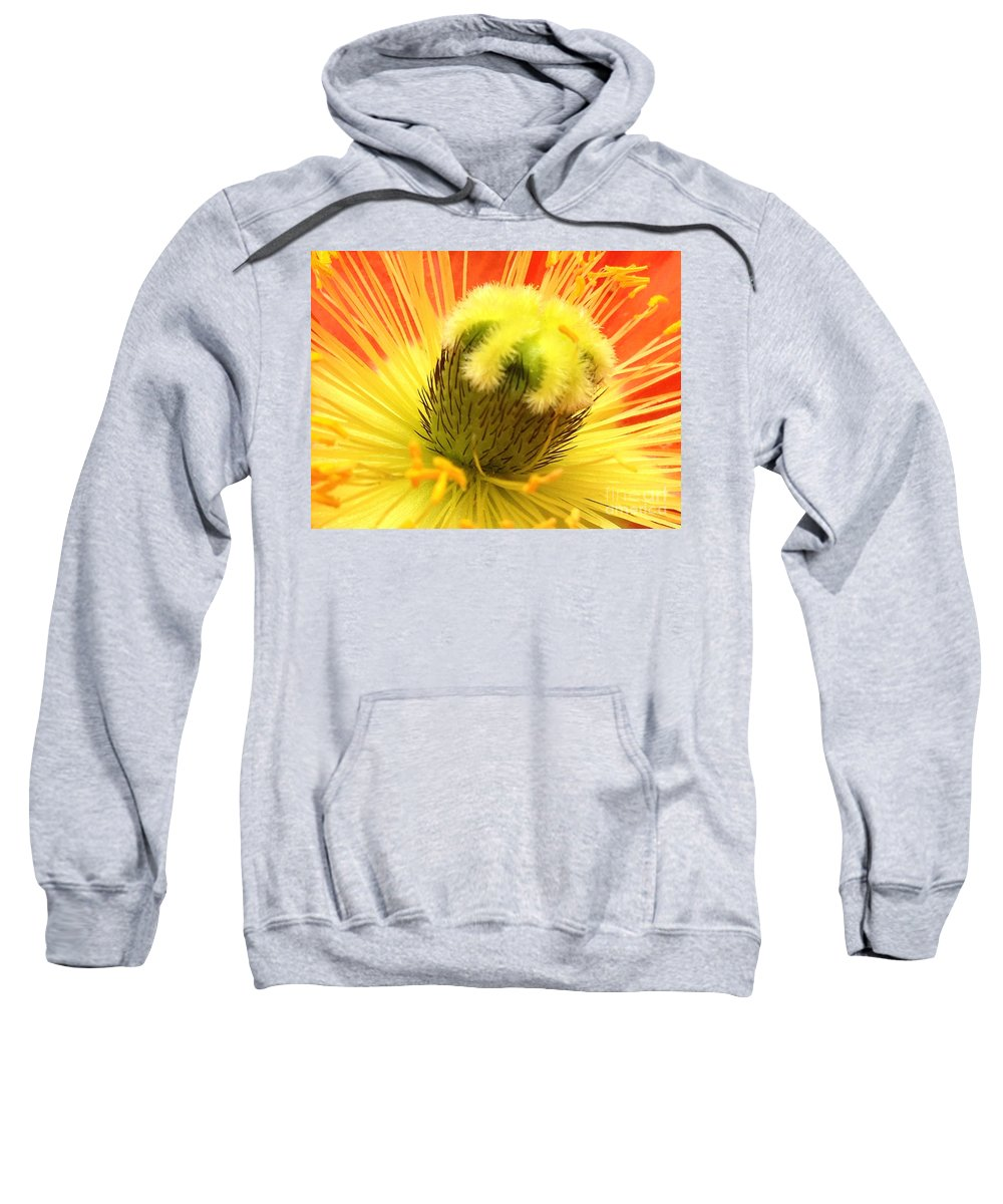 Yellow Sweatshirt featuring the photograph Poppy by Jacklyn Duryea Fraizer