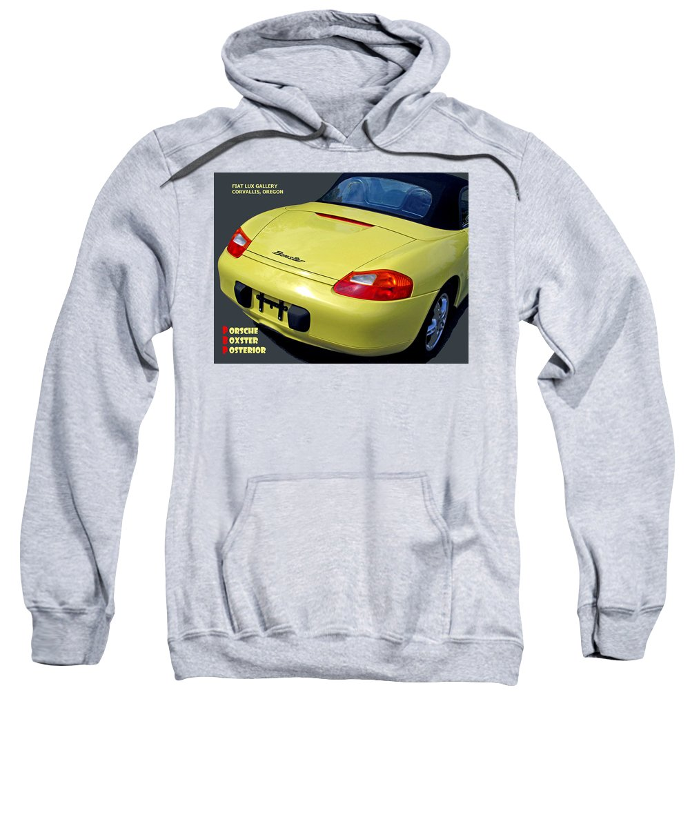 Porsche Sweatshirt featuring the photograph Porsche Boxster Posterior by Michael Moore