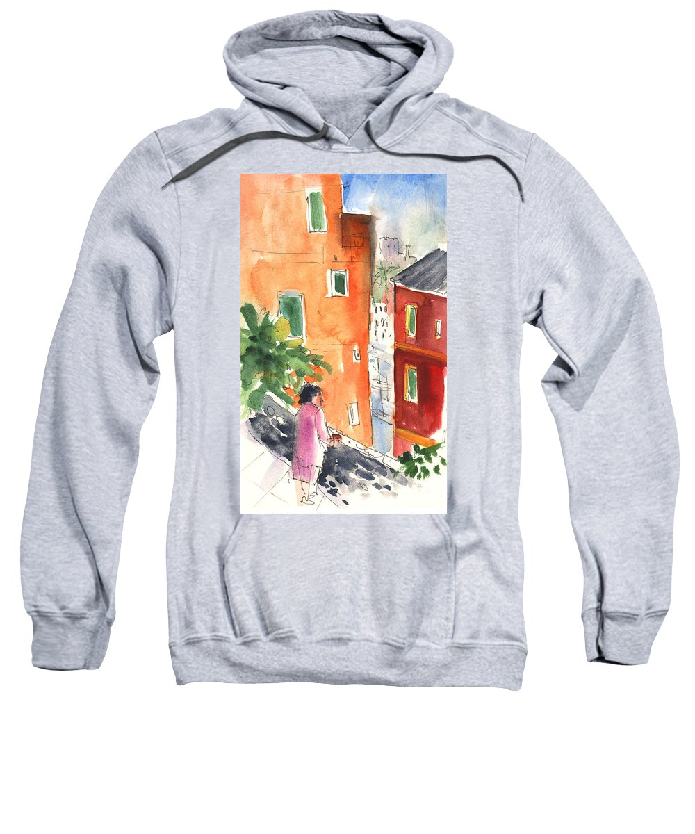 Italy Sweatshirt featuring the painting Portofino In Italy 04 by Miki De Goodaboom