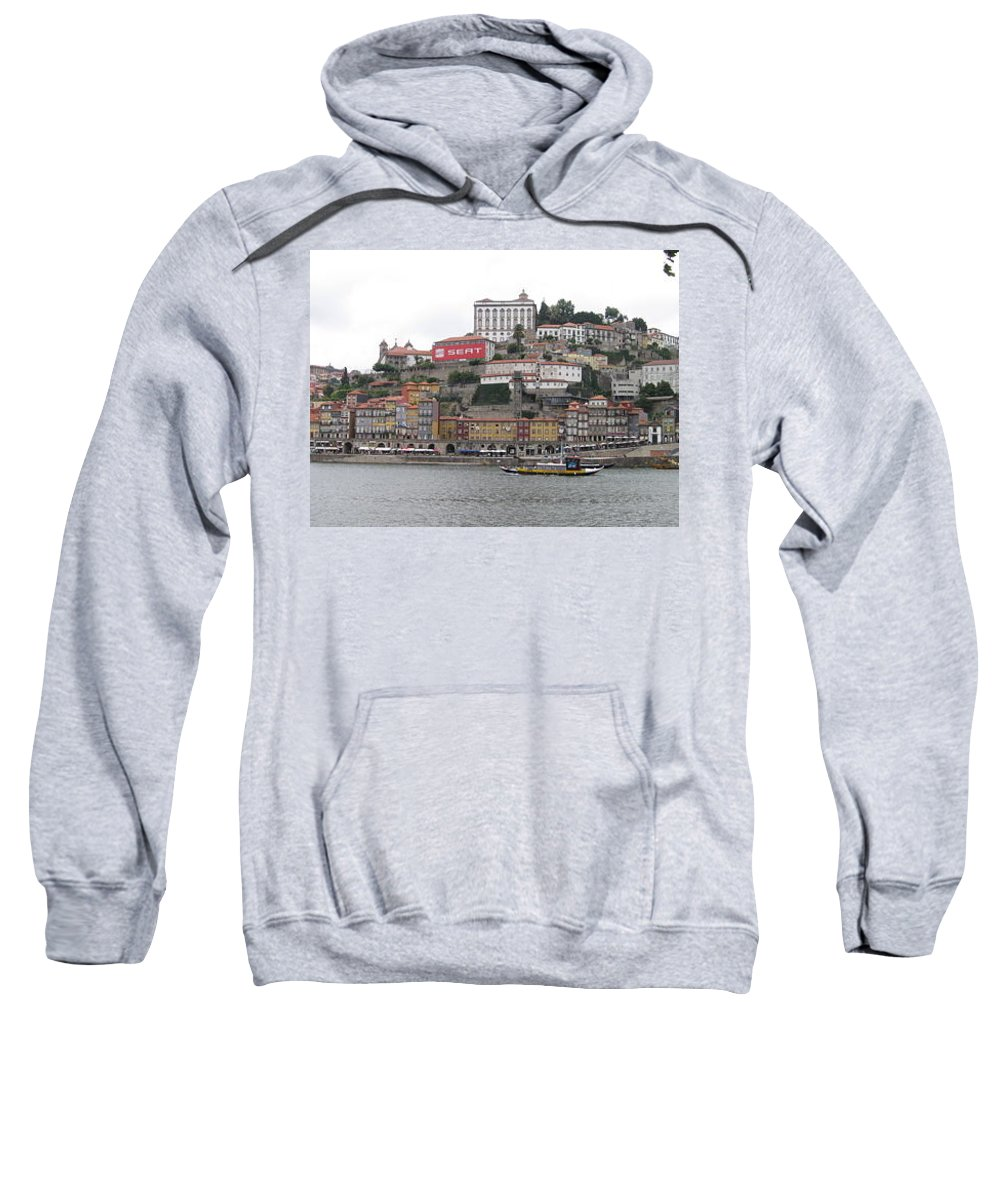 River Scence Sweatshirt featuring the photograph Portugal by Kimberly Maxwell Grantier