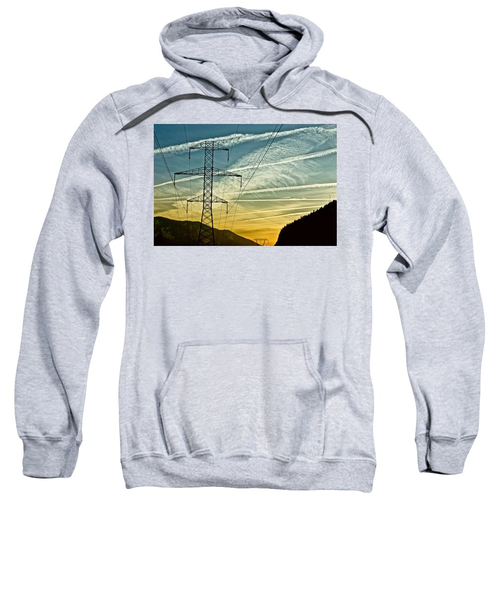 Power Sweatshirt featuring the photograph Power In The Sky by Albert Seger