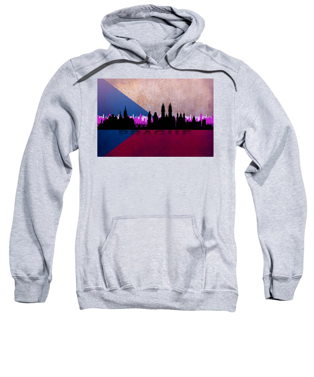 Architecture Sweatshirt featuring the digital art Prague City by Don Kuing