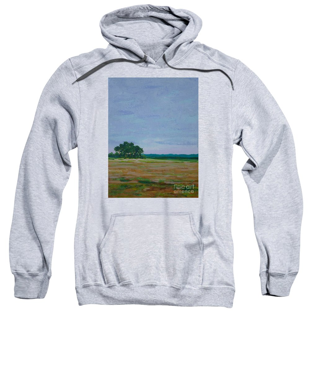 Field Sweatshirt featuring the painting Prairie Preserve by Gail Kent