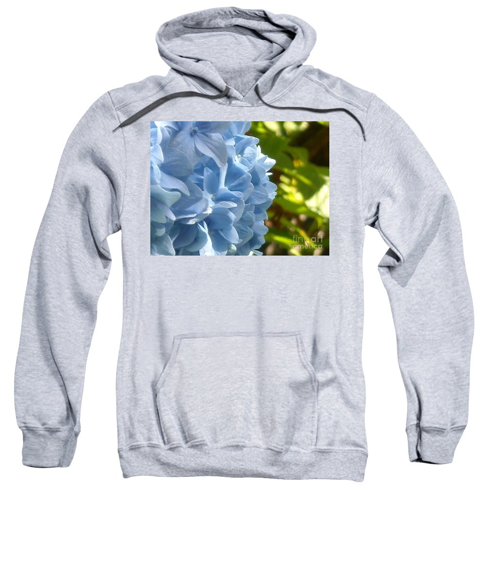 Flower Sweatshirt featuring the photograph Pretty Blue Flower by Line Gagne