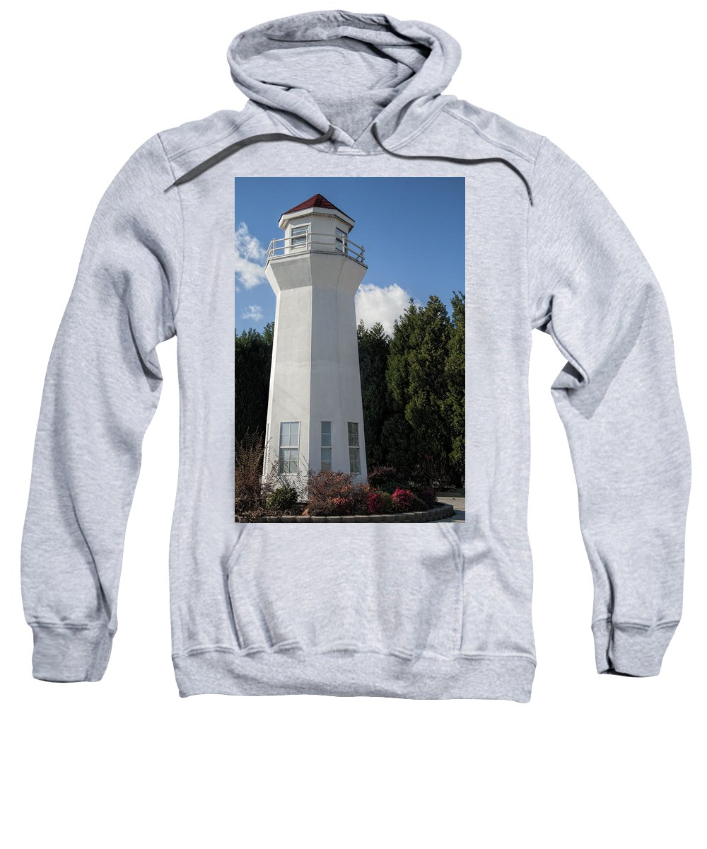 Lighthouse Sweatshirt featuring the photograph Pretty Lighthouse In Decatur Alabama by Kathy Clark