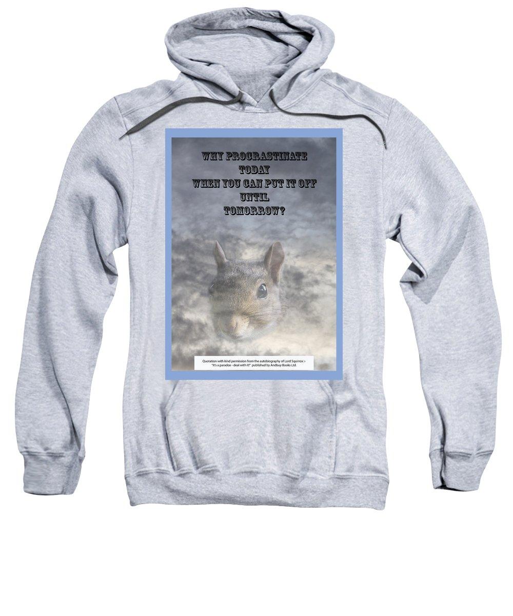 Procrastination Sweatshirt featuring the photograph Procrastination Paradox by Richard Thomas