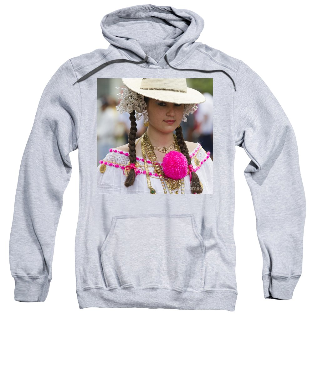 People Sweatshirt featuring the photograph Proud Panama Lady by Heiko Koehrer-Wagner