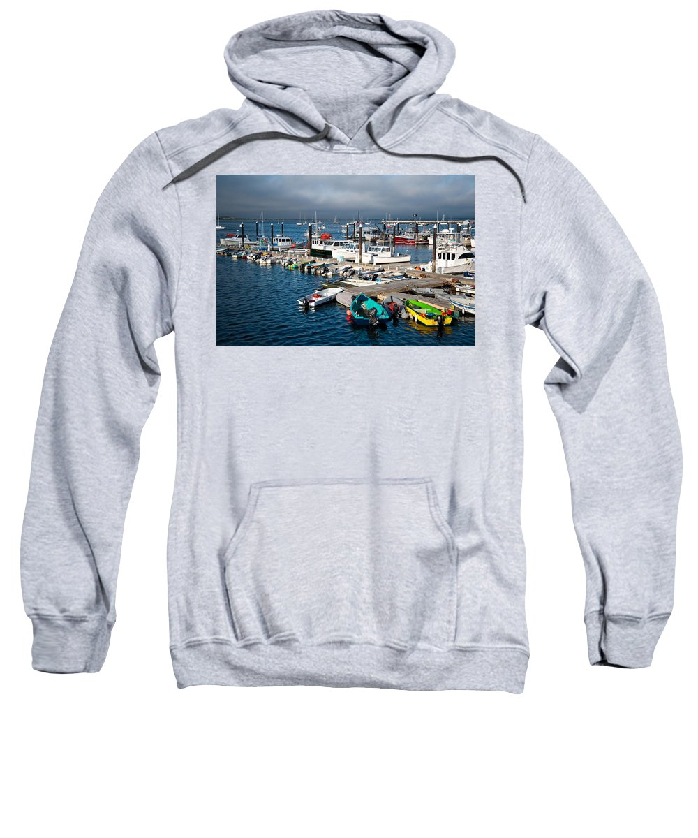 Cape Cod Sweatshirt featuring the photograph Provincetown Piers by Zina Zinchik
