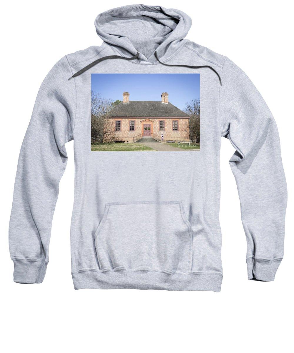 Colonial Williamsburg Sweatshirt featuring the photograph Public Records Office Williamsburg Virginia by Teresa Mucha