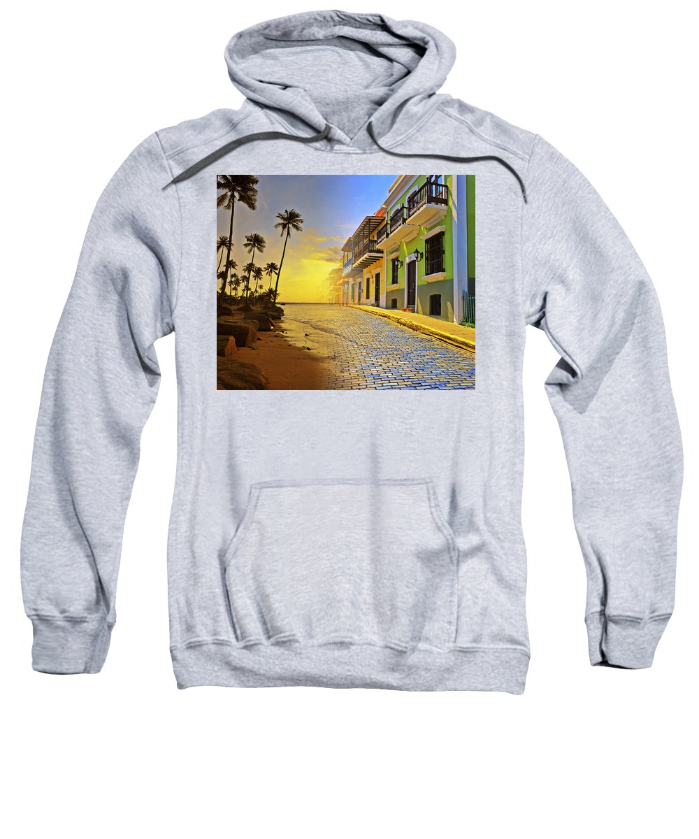 Puerto Rico Sweatshirt featuring the photograph Puerto Rico Collage 2 by Stephen Anderson