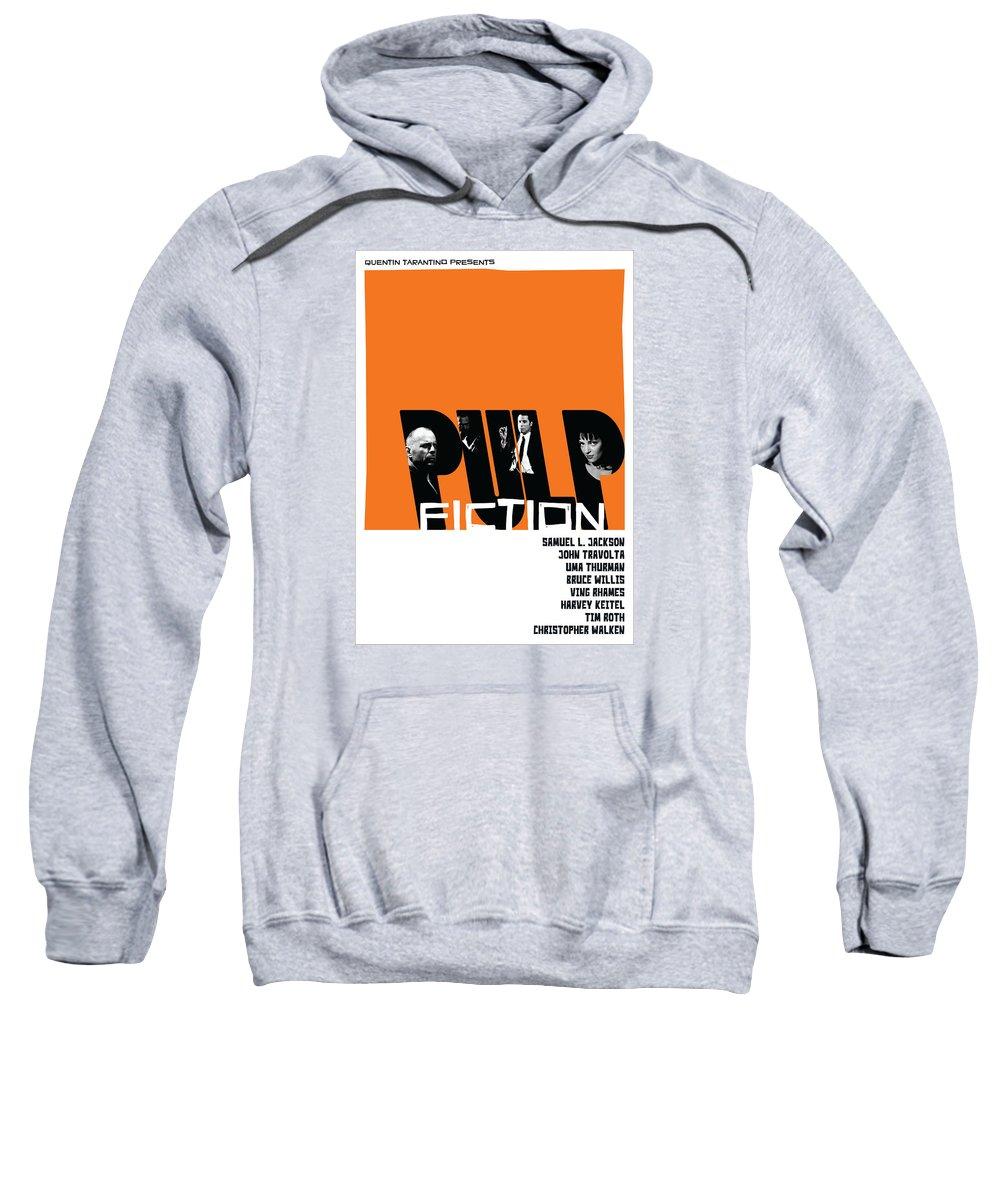 Movie Sweatshirt featuring the digital art Pulp Fiction Poster by Geraldinez