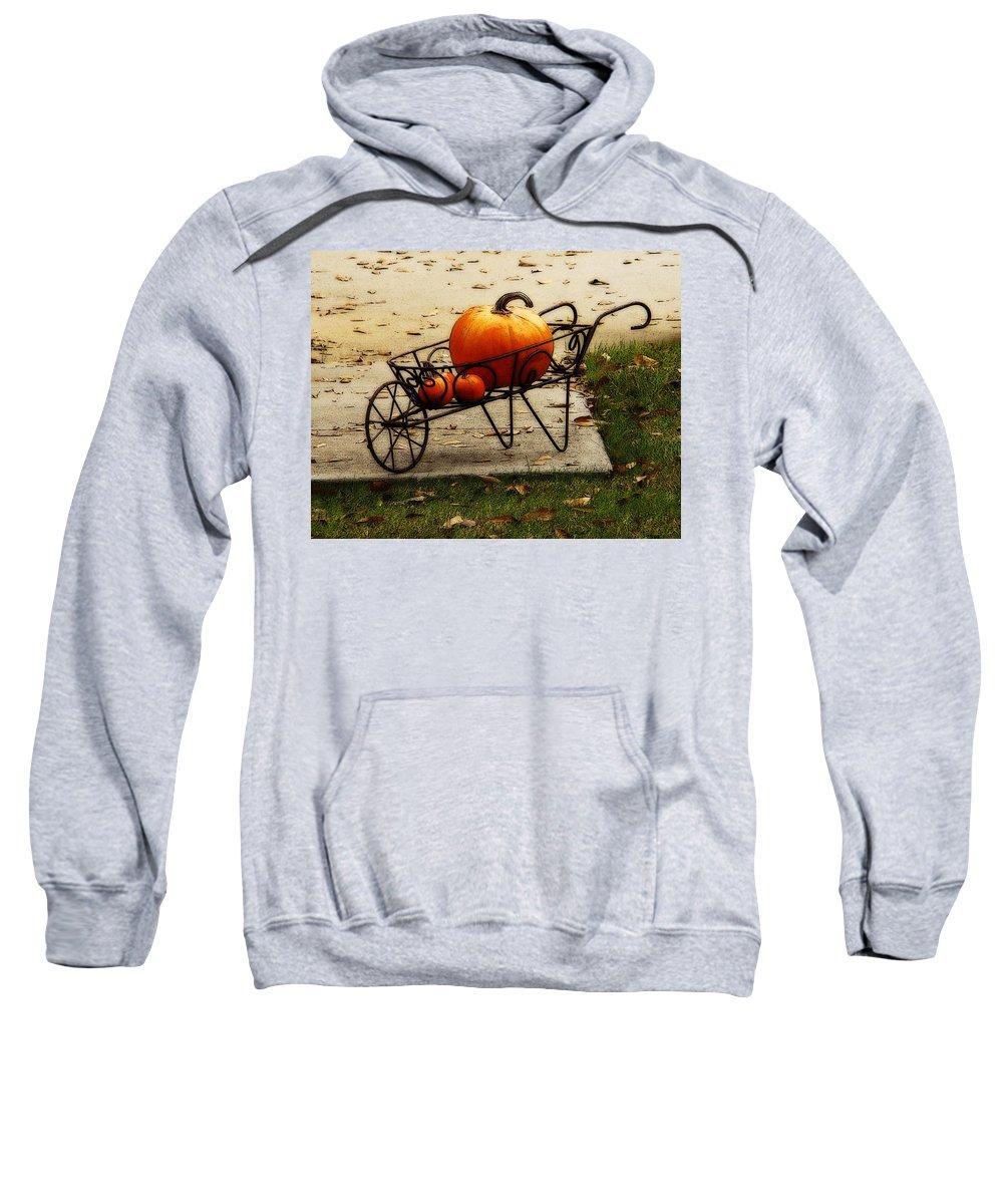 Fine Art Sweatshirt featuring the photograph Pumpkin Barrow by Rodney Lee Williams