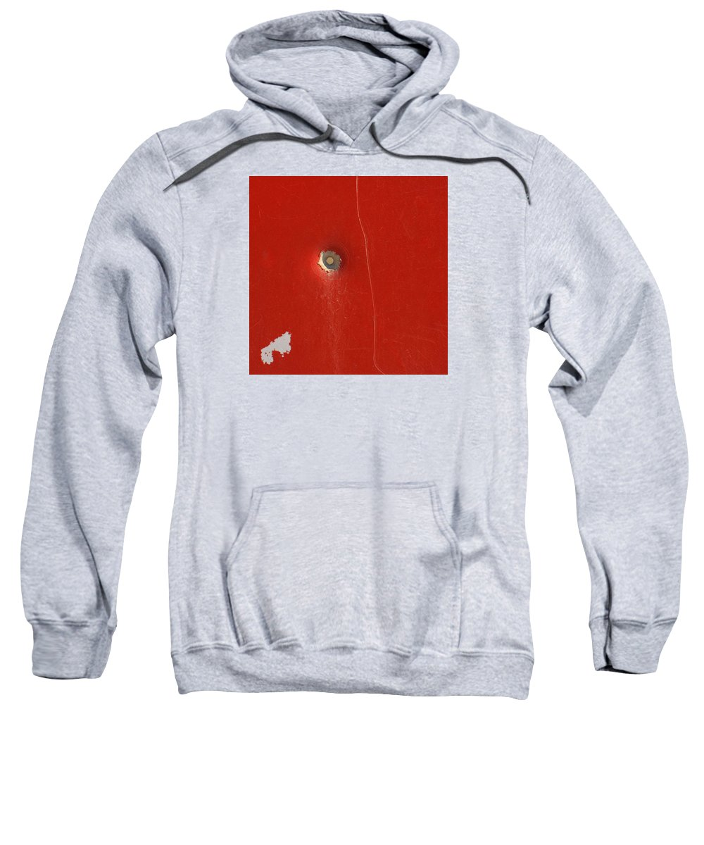 Bullet Sweatshirt featuring the photograph Punctured by Art Block Collections