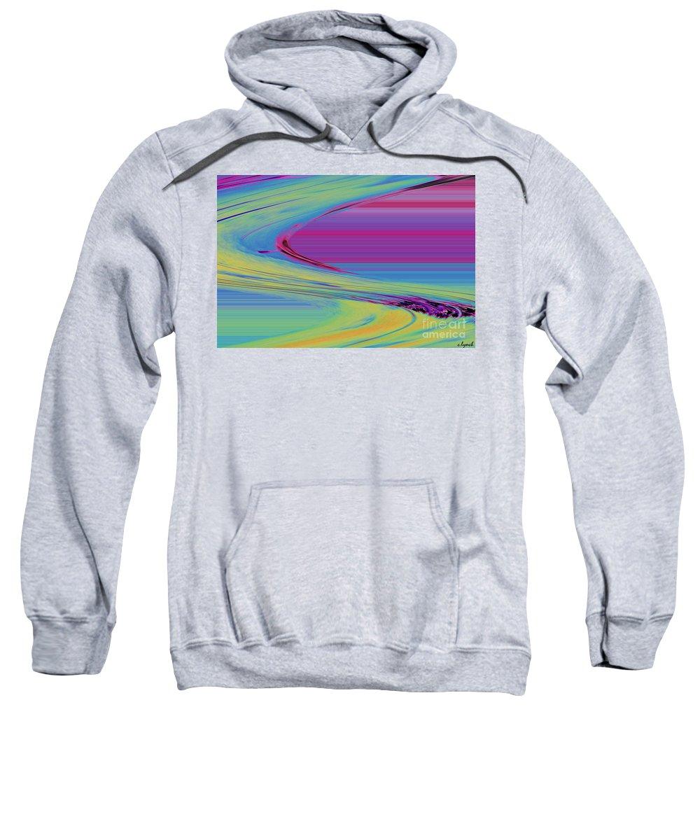 Purple Sweatshirt featuring the digital art Purple by Carol Lynch