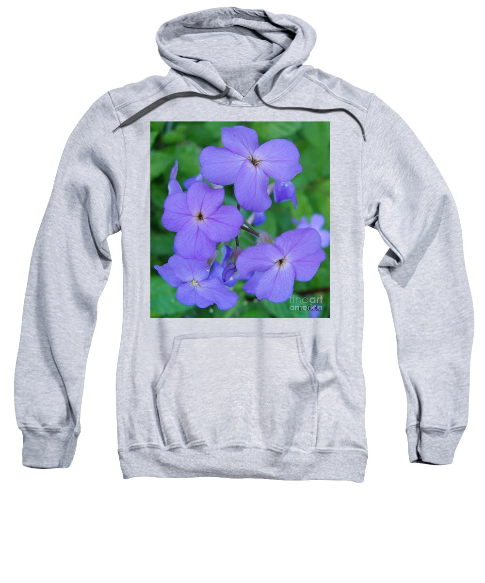 Flowers Sweatshirt featuring the photograph Purple Passion by Sara Raber
