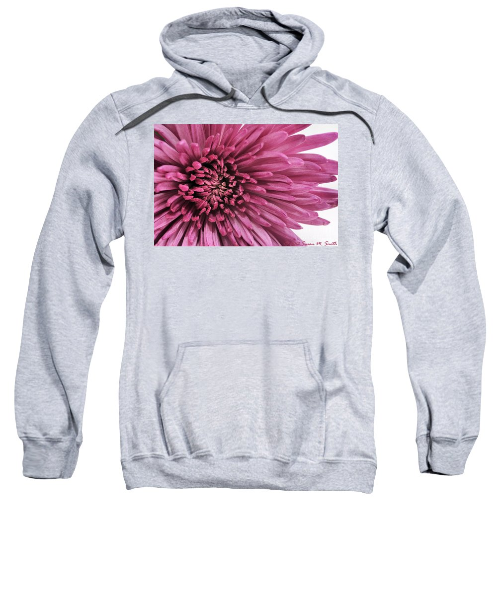 Photography Sweatshirt featuring the photograph Purple Pow by Susan Smith