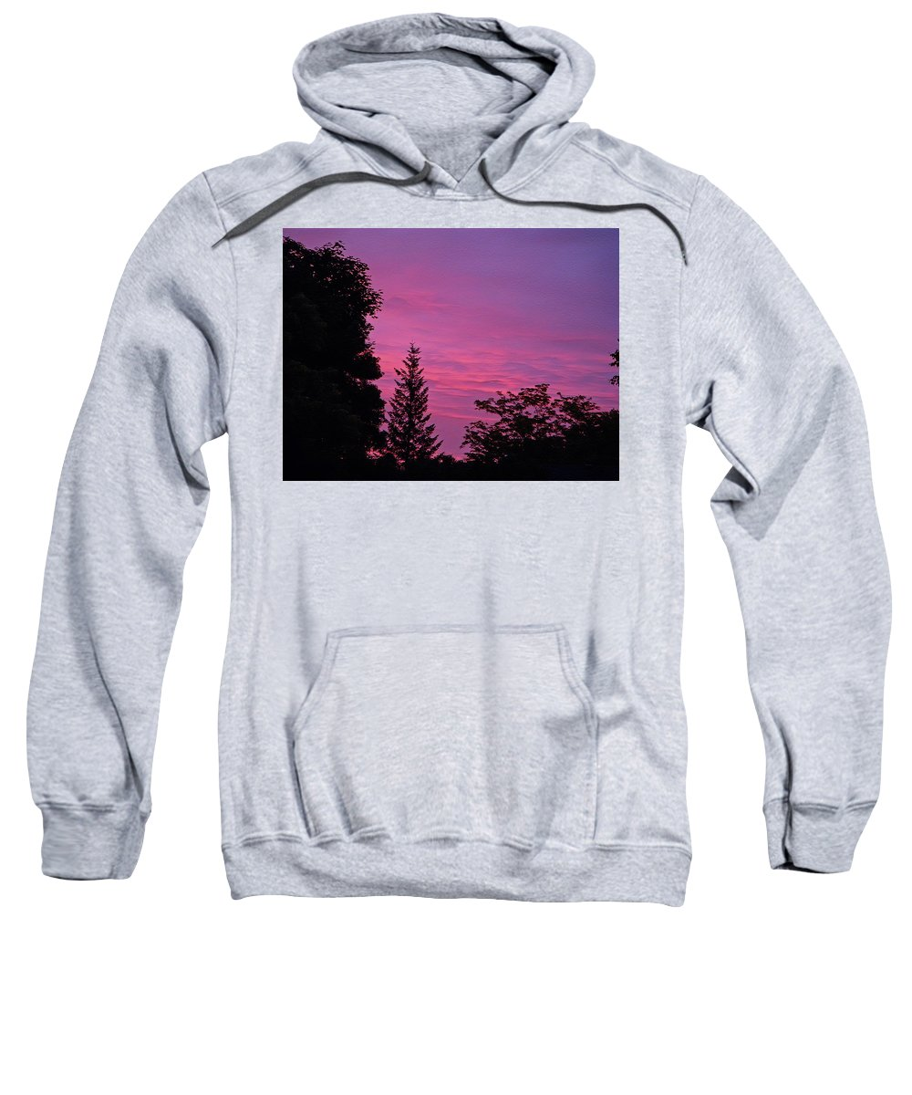 Sunset Sweatshirt featuring the photograph Purple Sky At Night by Aimee L Maher ALM GALLERY
