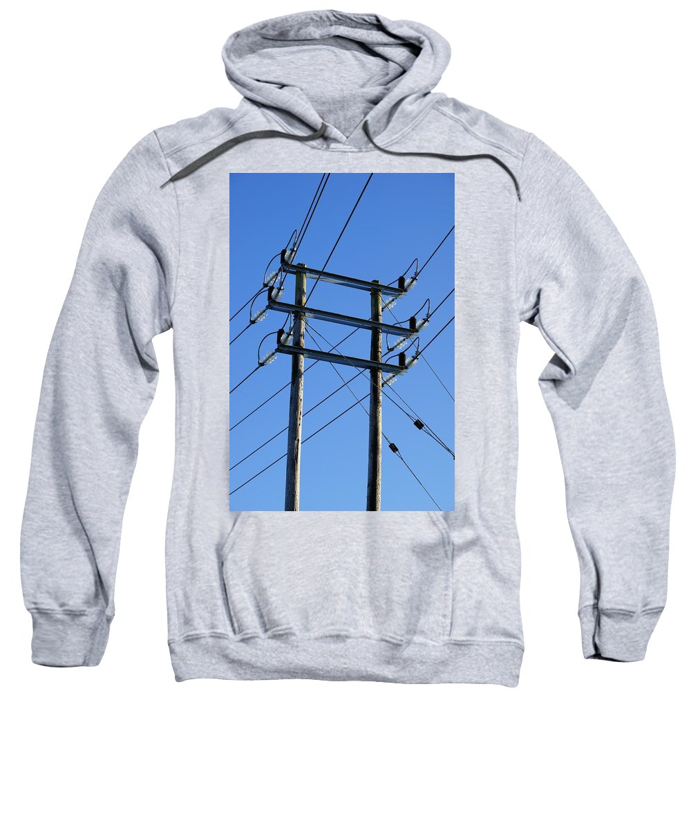 Pylon Sweatshirt featuring the photograph Pylon 21 by Ron Harpham