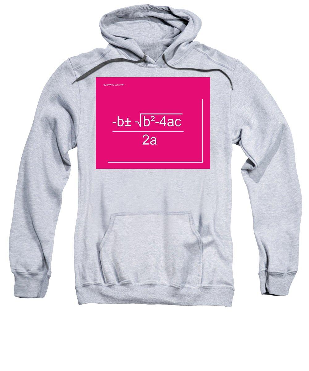 Featured Sweatshirt featuring the digital art Quadratic Equation by Paulette B Wright