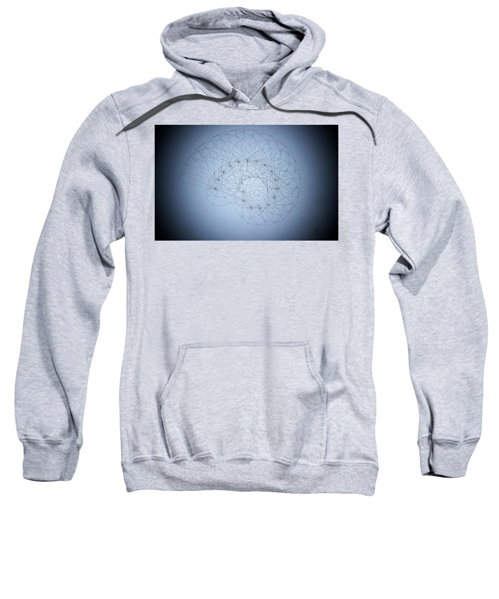Seashell Sweatshirt featuring the drawing Quantum Nautilus Spotlight by Jason Padgett