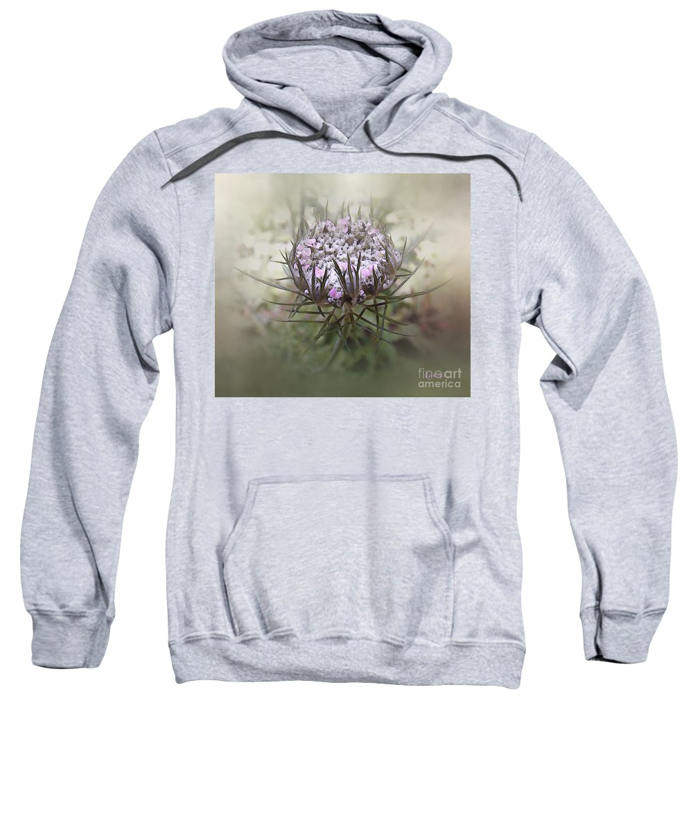 Queen Anne's Lace Sweatshirt featuring the digital art Queen Of The Mist by RC DeWinter