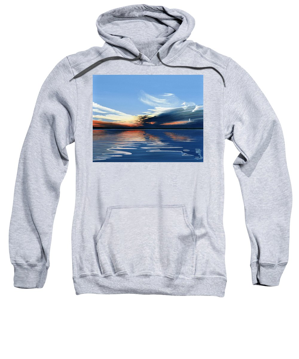 Landscape Sweatshirt featuring the painting Quiet Reflections by Kenneth M Kirsch