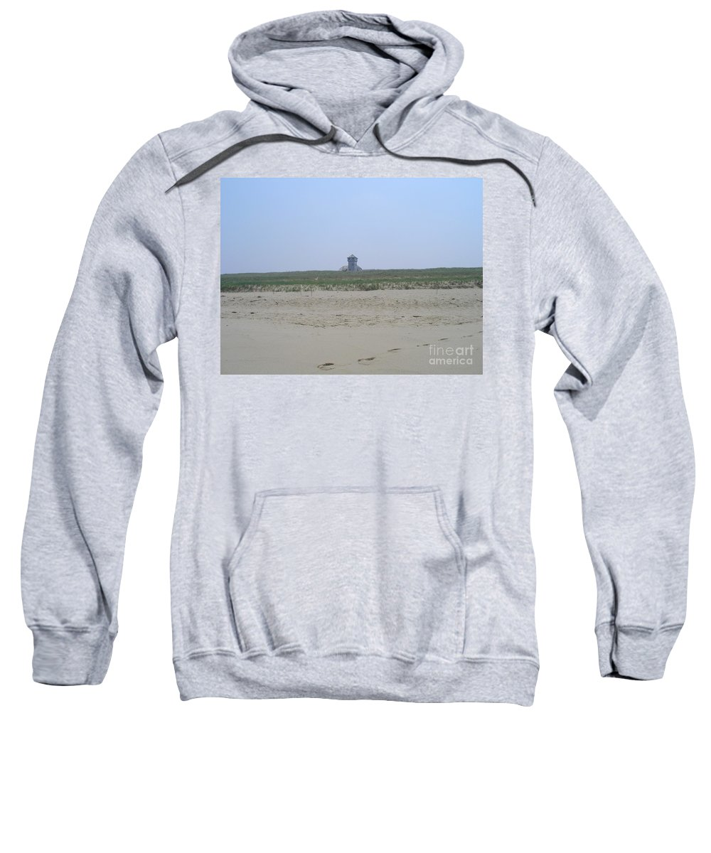 Race Point Life Saving Station Sweatshirt featuring the photograph Race Point Beach by Elizabeth Dow