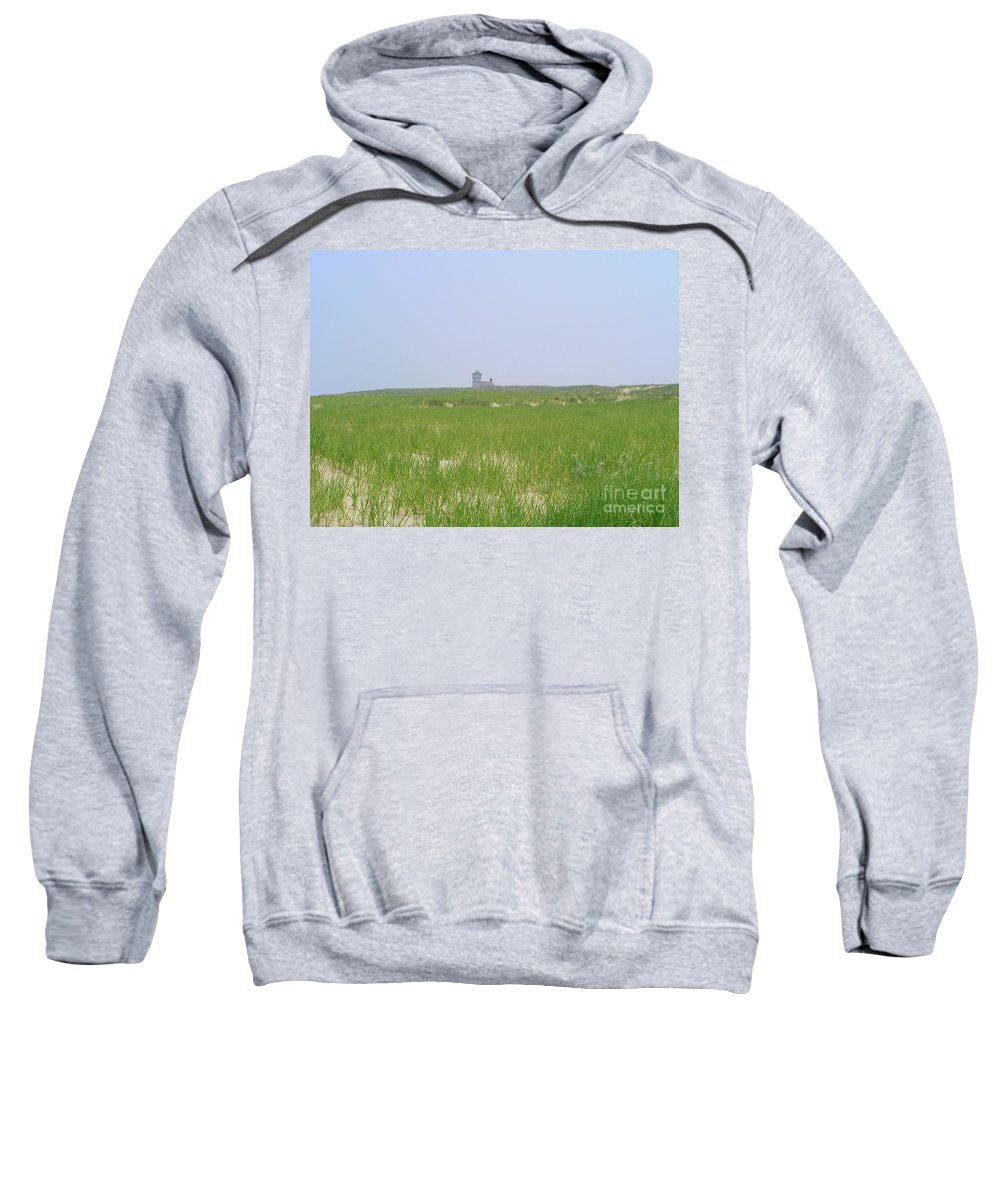 Race Point Life Saving Station Sweatshirt featuring the photograph Race Point Life Saving Station by Elizabeth Dow