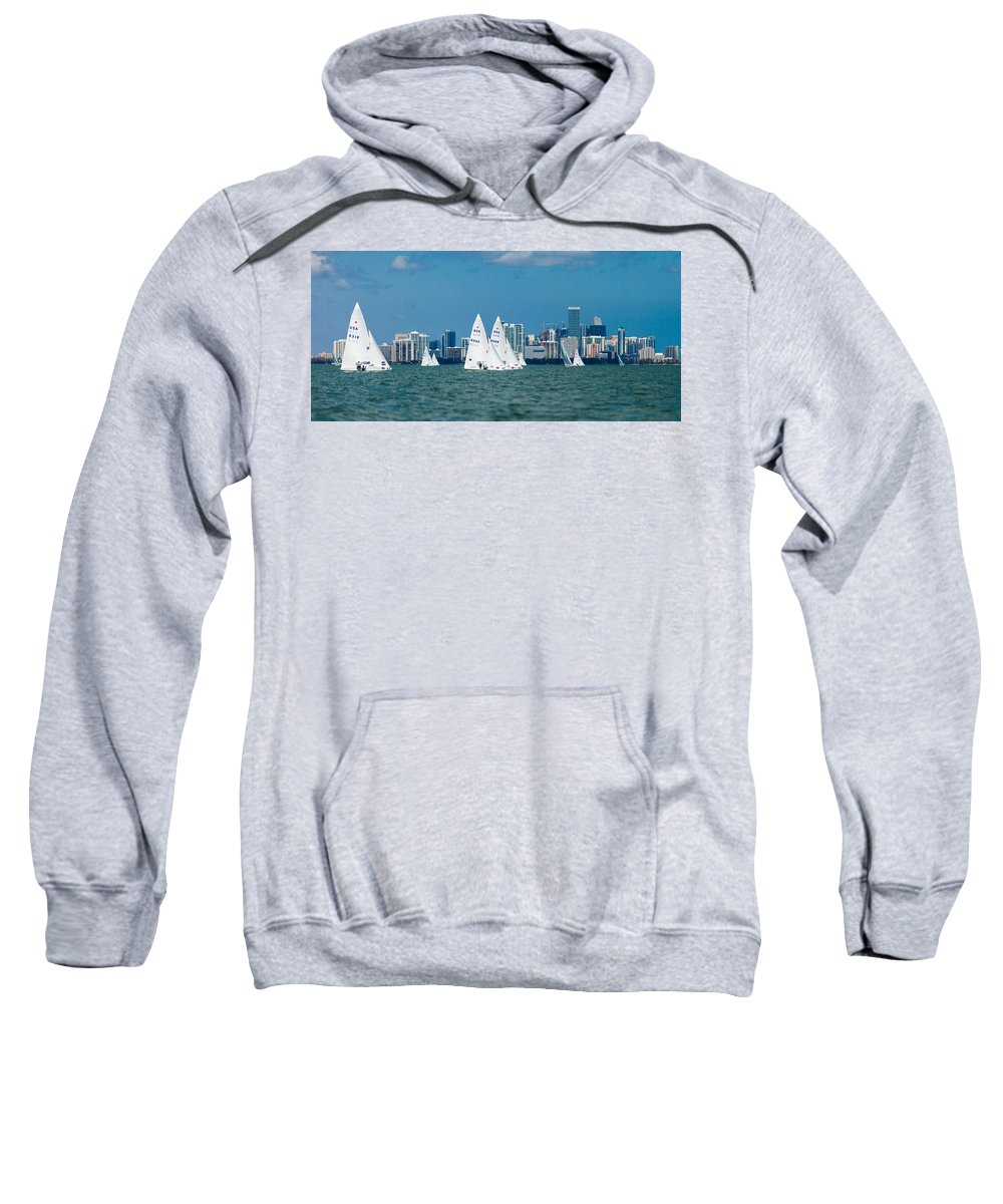 Waiting Room Sweatshirt featuring the photograph Racing Past Miami by David Smith