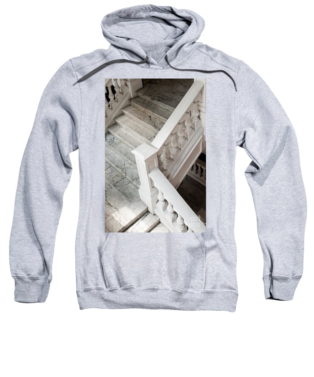 Singapore Sweatshirt featuring the photograph Raffle's Hotel Marble Staircase by Rick Piper Photography