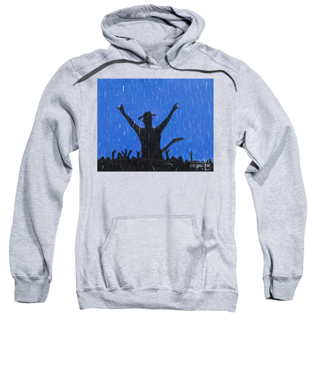 Country Sweatshirt featuring the painting Rain Can't Stop Me by Lloyd Alexander