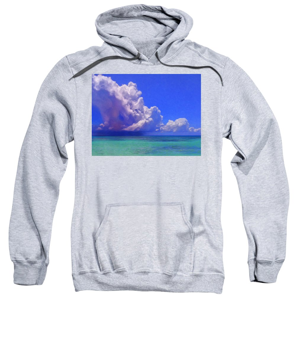 Hawaii Sweatshirt featuring the painting Rain Squall On The Horizon by Dominic Piperata