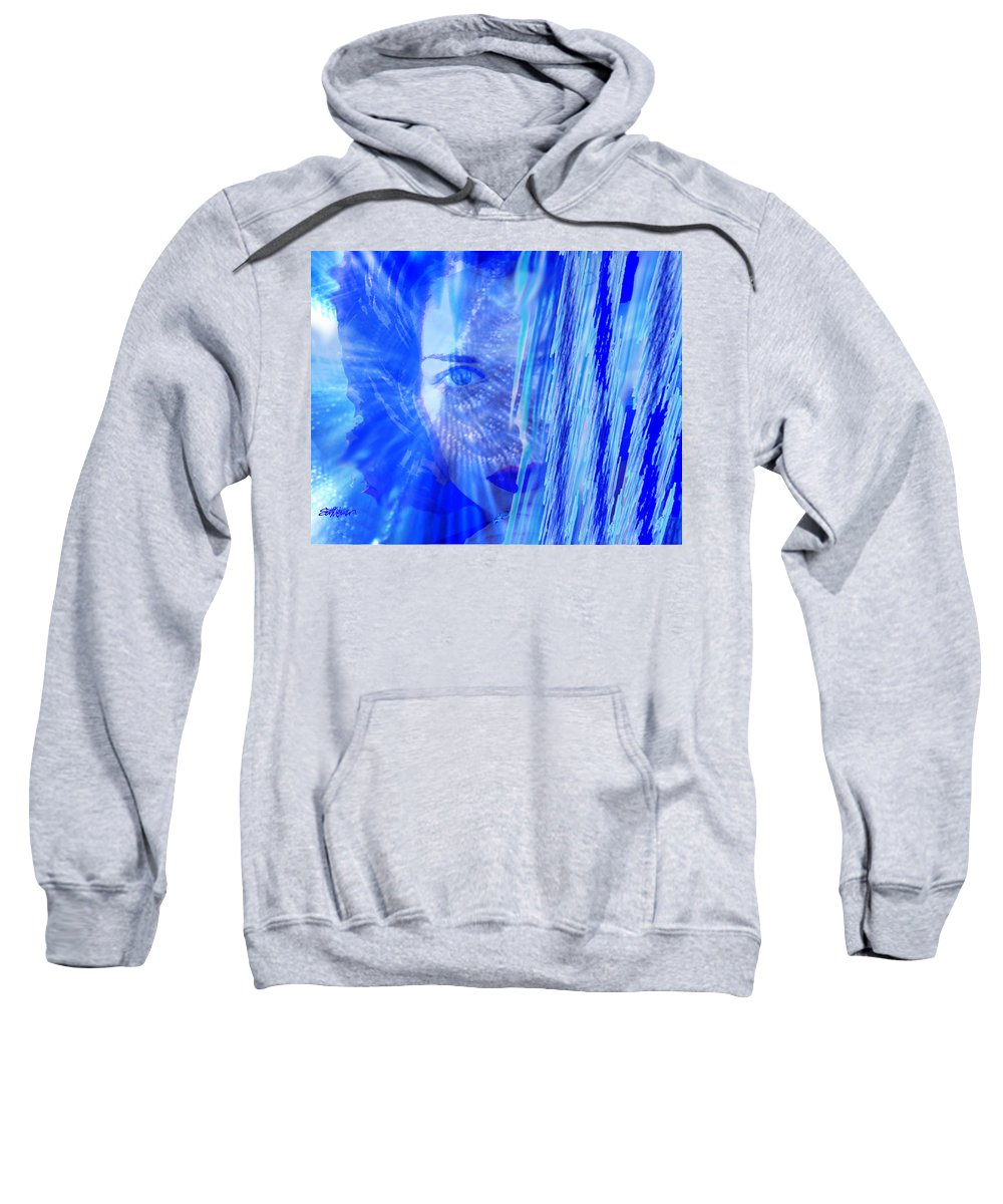 Rainy Day Dreams Sweatshirt featuring the digital art Rainy Day Dreams by Seth Weaver
